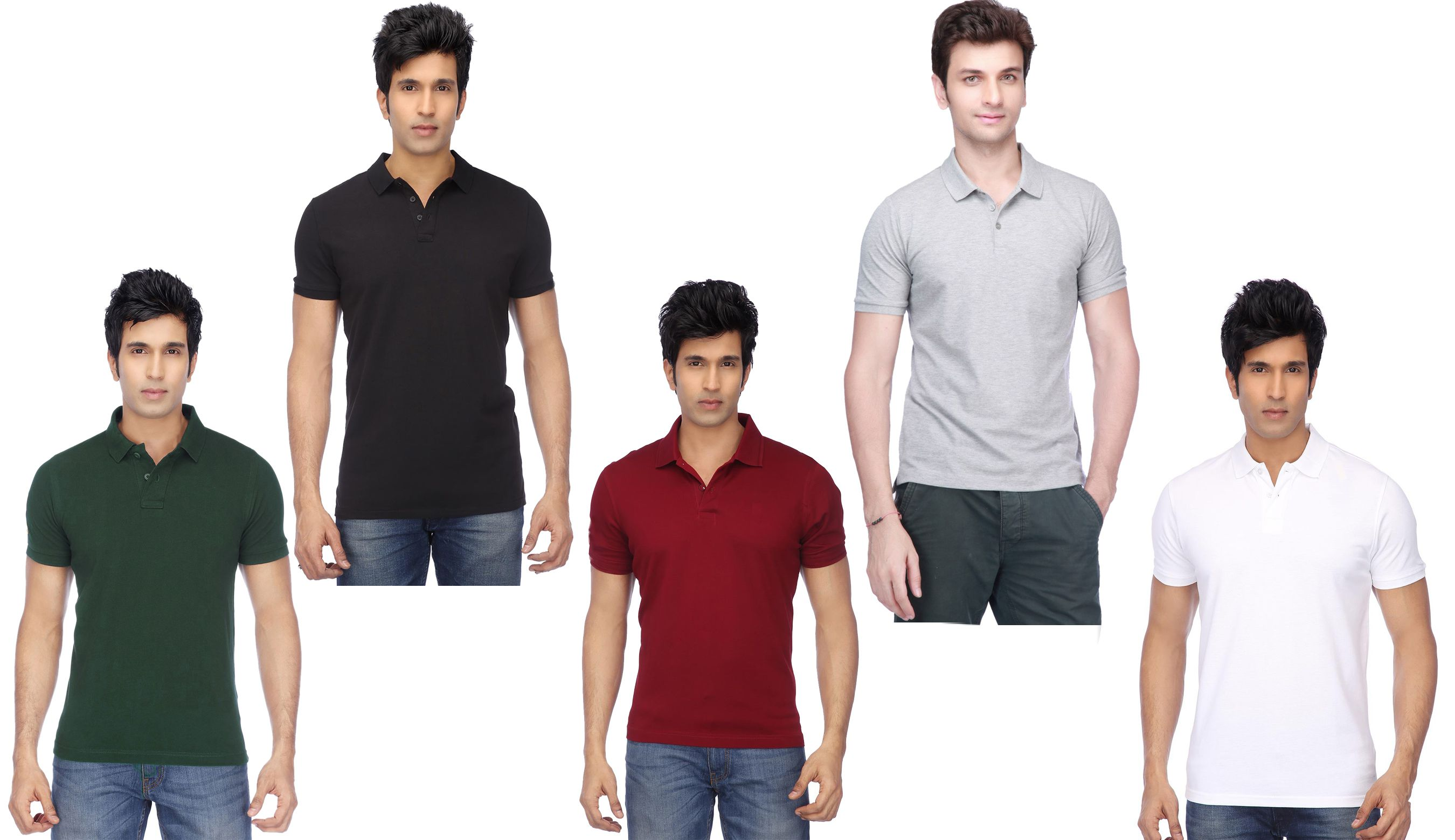 CONCEPTS Multi Cotton Blend Polo T-Shirt Pack of 5