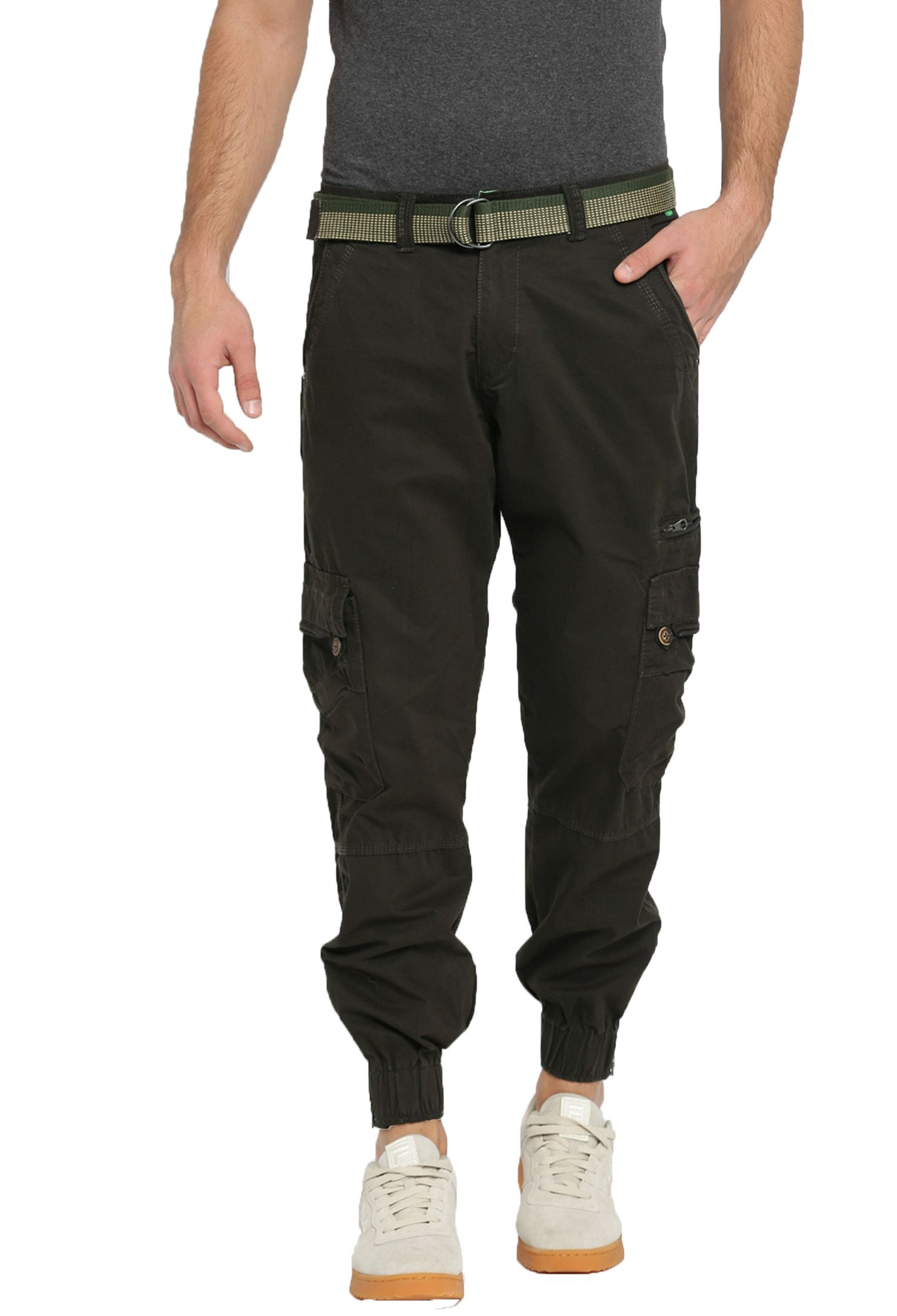 FIFTY TWO Green Slim -Fit Flat Cargos