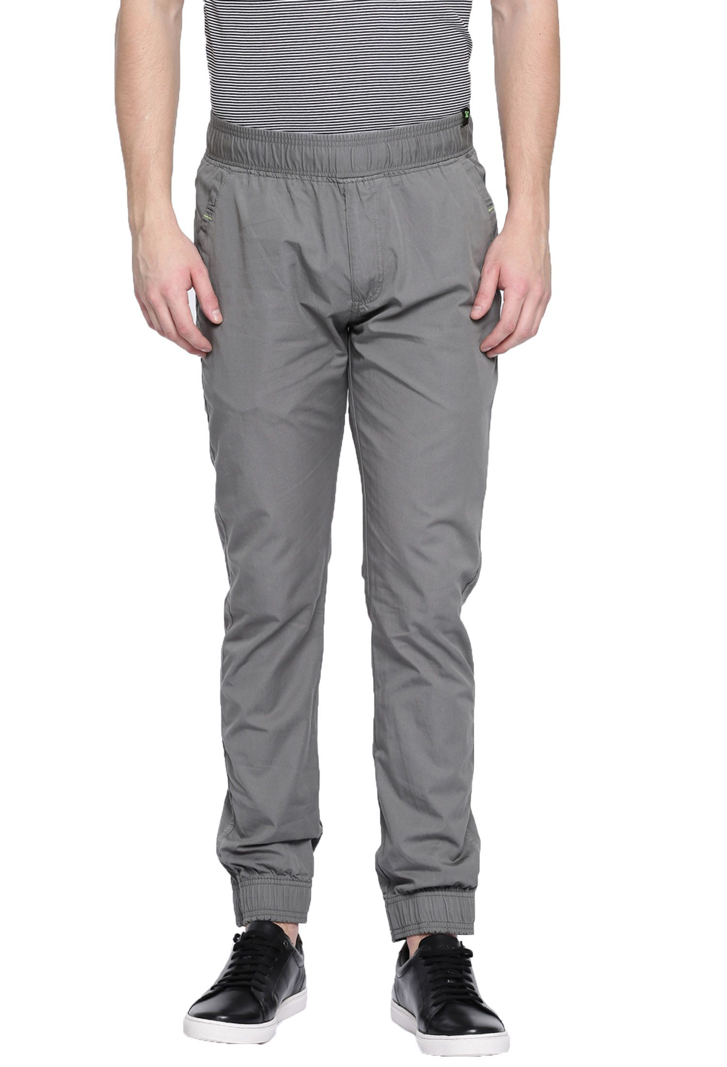FIFTY TWO Grey Slim -Fit Flat Joggers