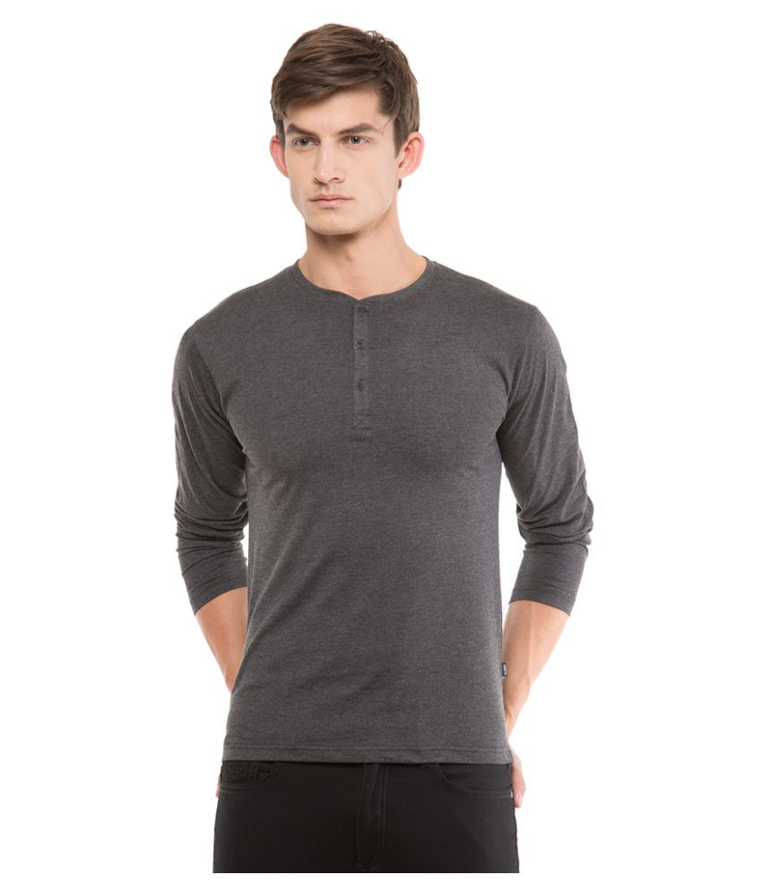 Highlander Black Henley T-Shirt Pack of 1