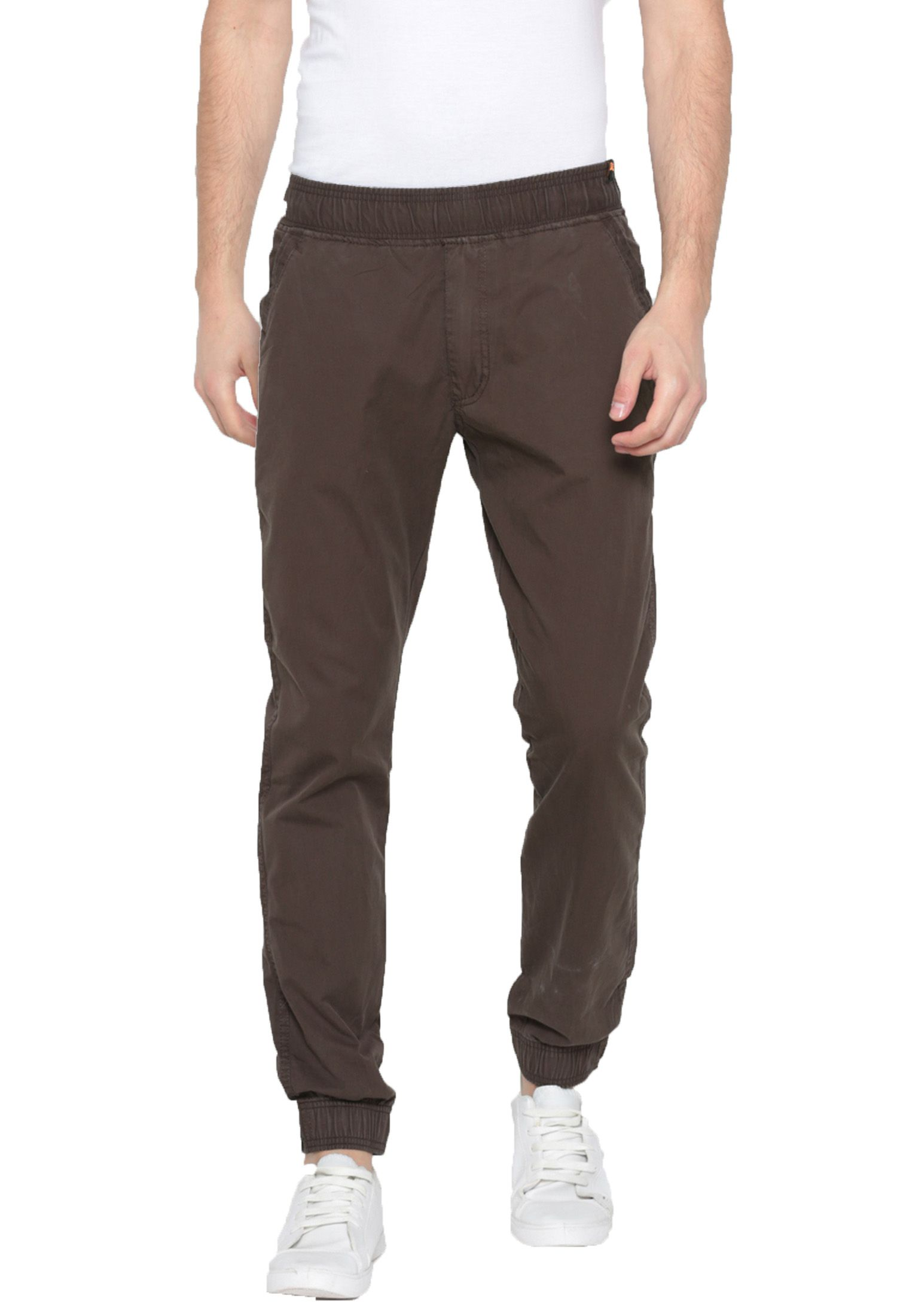 Sports 52 Wear Brown Slim -Fit Flat Joggers