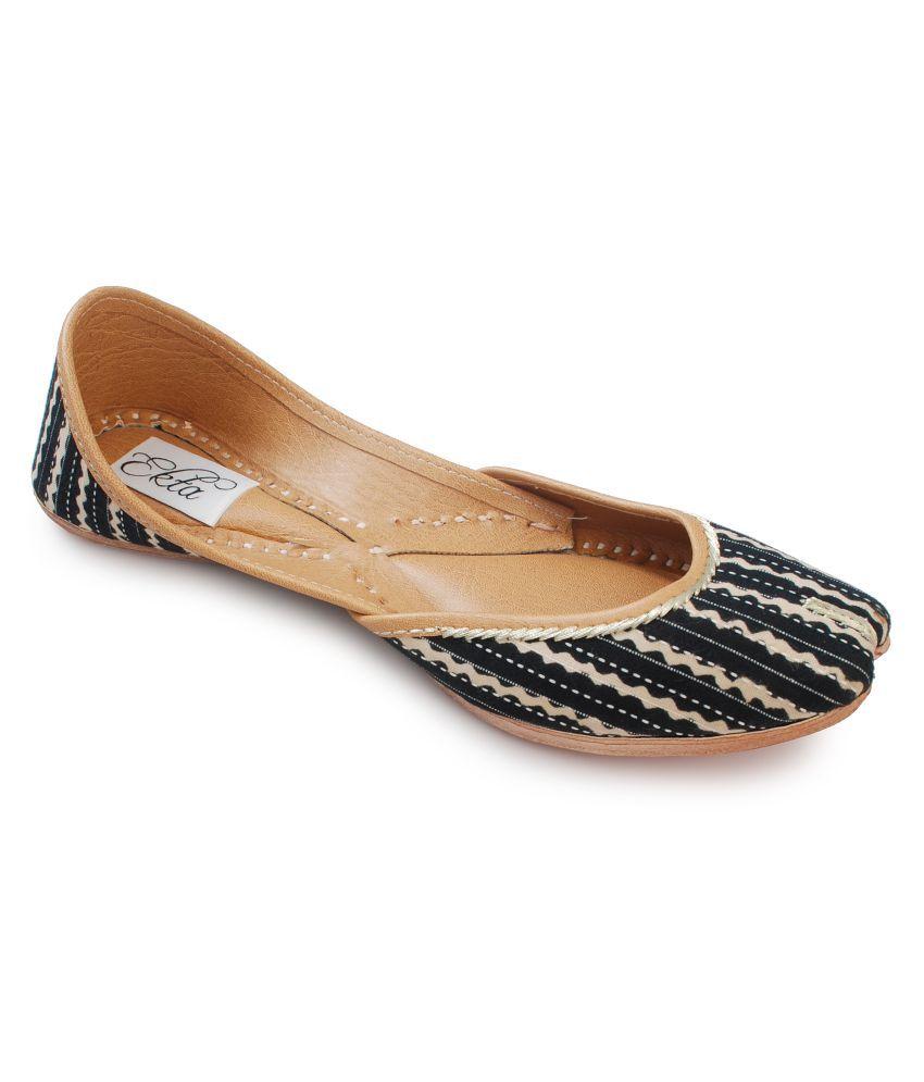 Ekta Black Ethnic Footwear