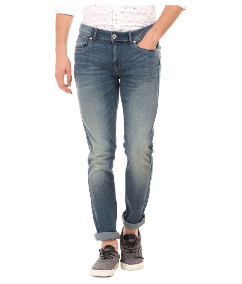 Flying Machine Blue Skinny Jeans