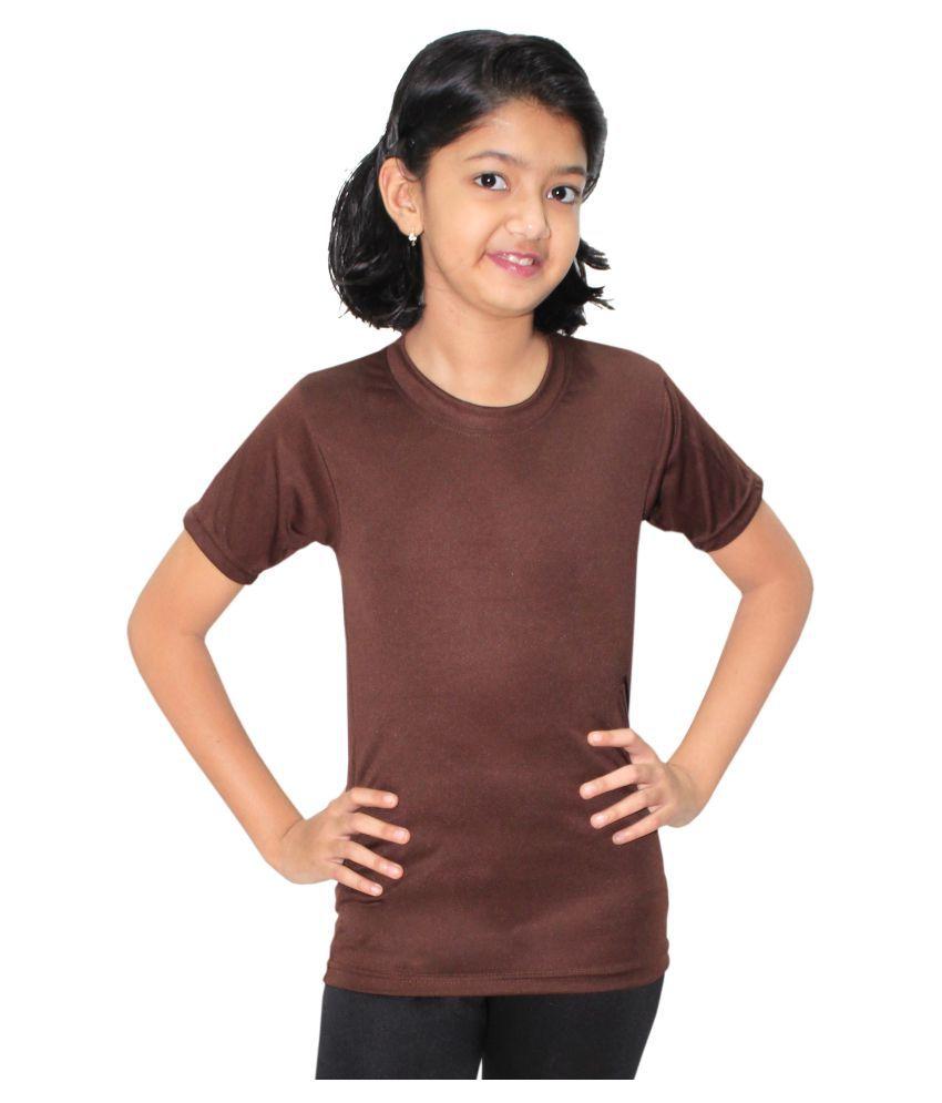 Goodluck Girls Short Sleeve Swim T-Shirt