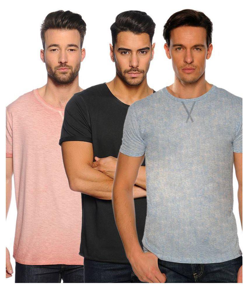 Zachi Multi Round T-Shirt Pack of 3