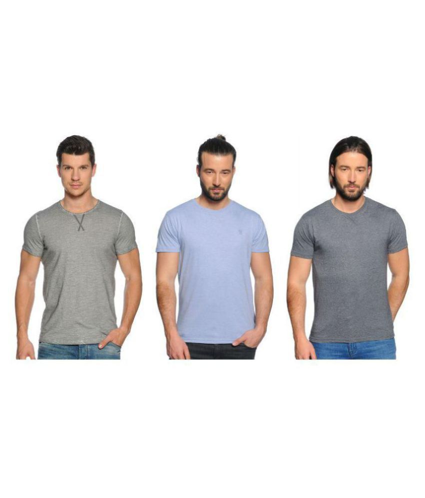 Zachi Multi Round T-Shirt Pack of 3
