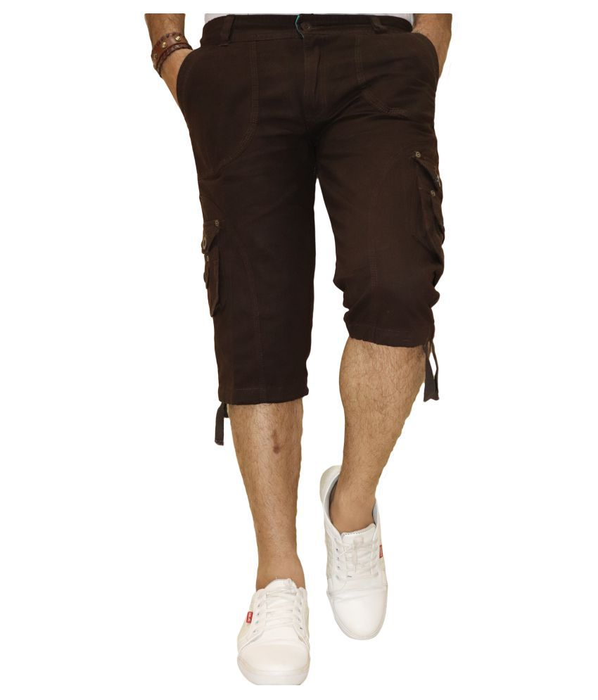 DREAM VISION Brown Shorts