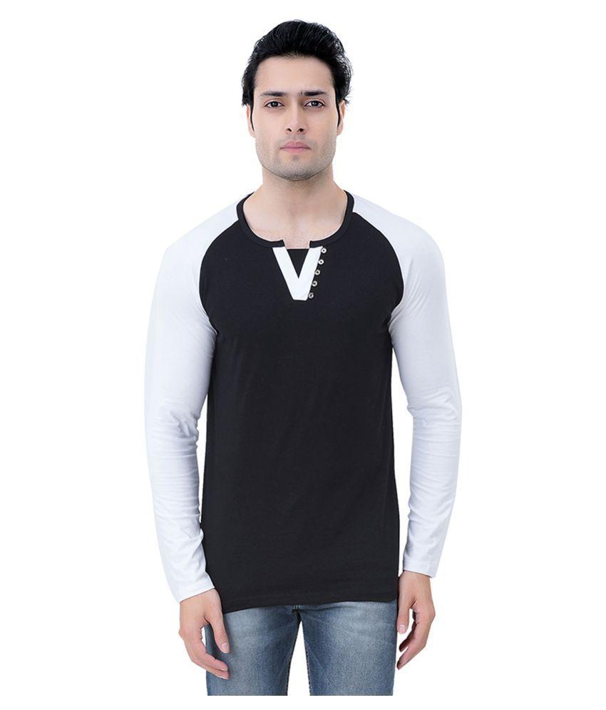 RoyalShoppingCart Black V-Neck T-Shirt