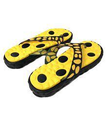 Falcon18 Unisex Flip Flops Yellow Slide Flip flop