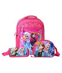 Best shop School Bags combo backpack pink colour for girls