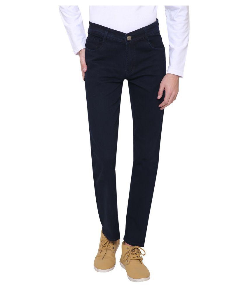 gradely Dark Blue Regular Fit Jeans