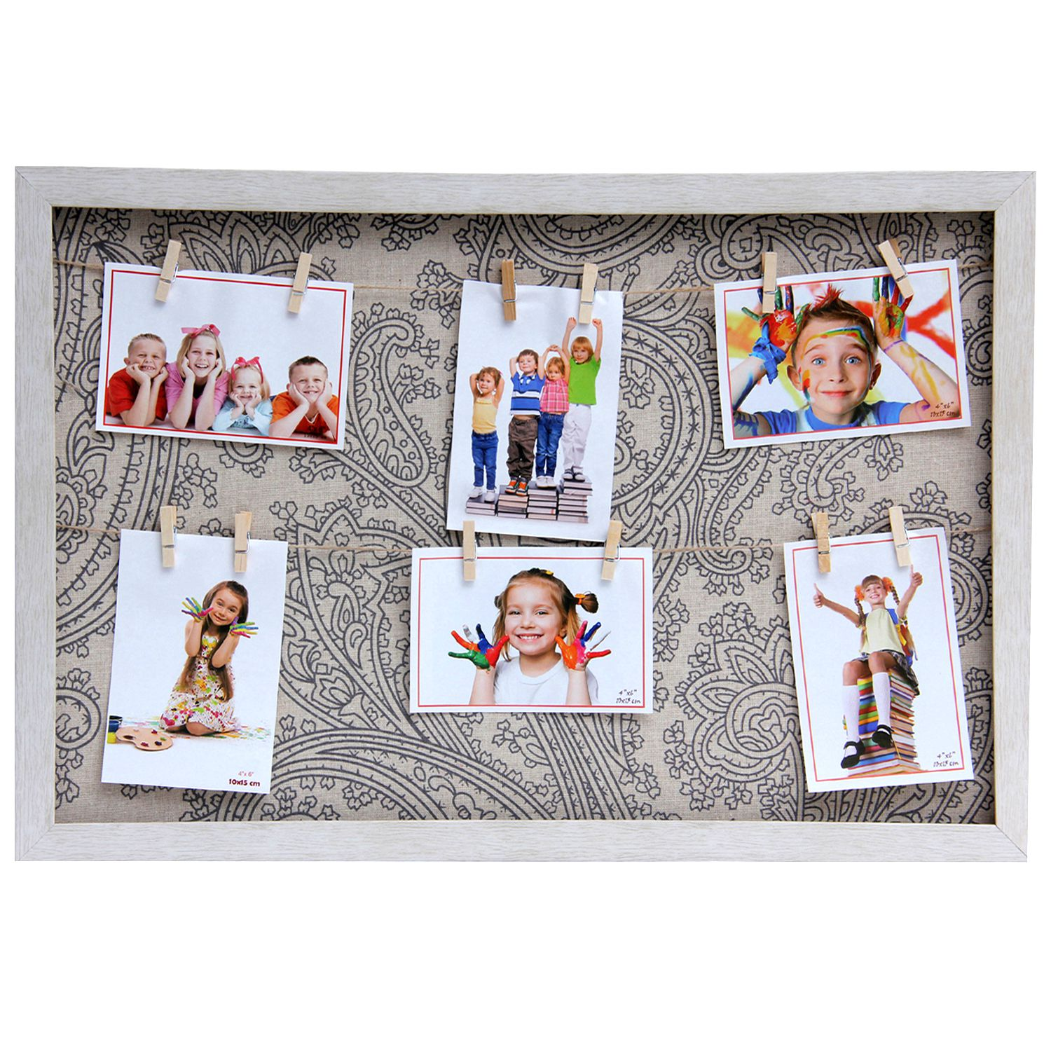 Tayhaa Wood Table Top & Wall hanging Beige Collage Photo Frame - Pack of 1