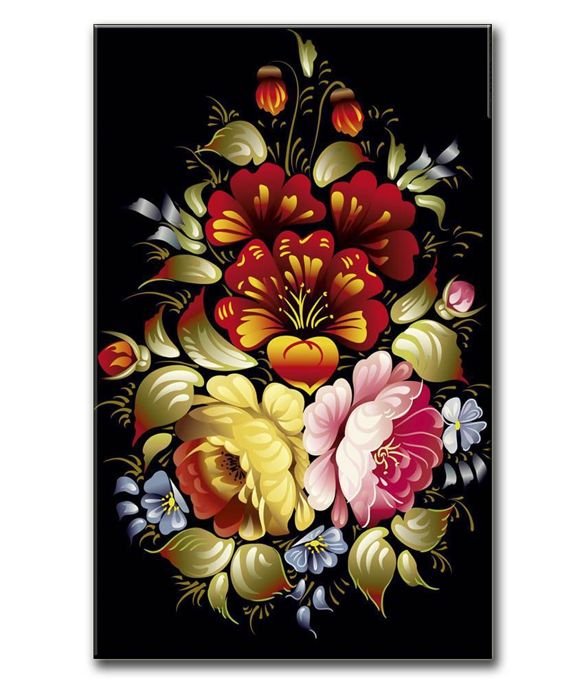 Anwesha's Gallery Wrapped Digitally Printed 12.5 X 20 Inch - Flower Canvas Painting With Frame