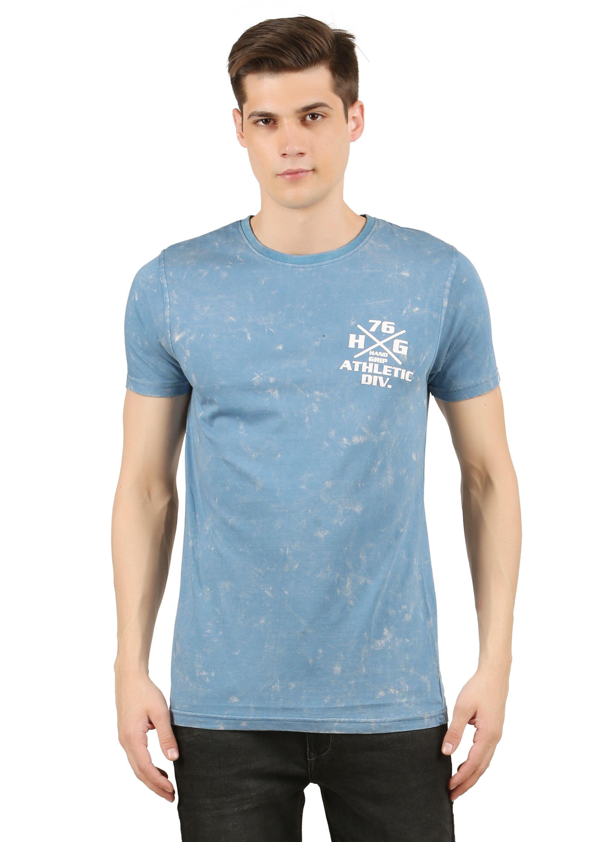 Handgrip Blue Round T-Shirt Pack of 1