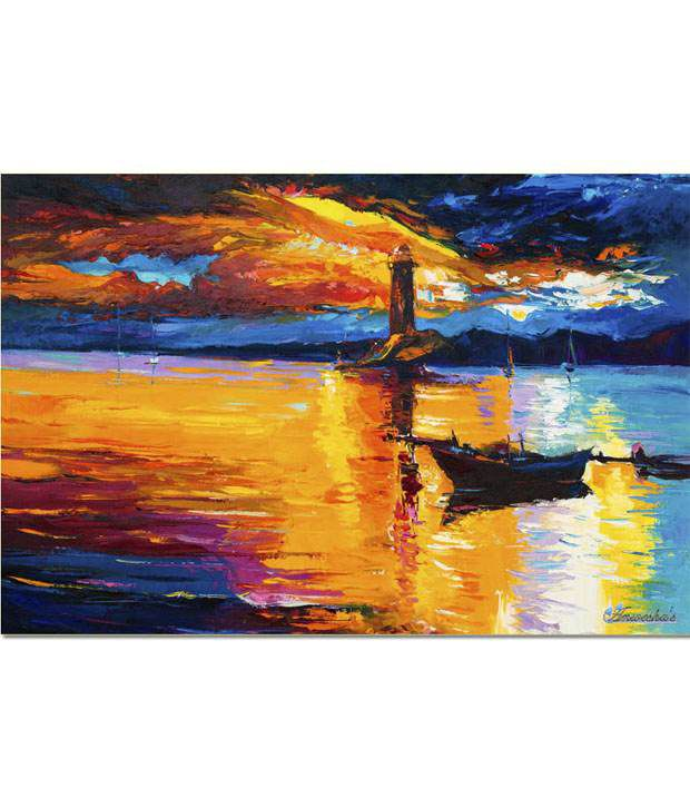 Anwesha's Gallery Wrapped Digitally Printed 30x20 Inch - 126 Canvas Painting With Frame