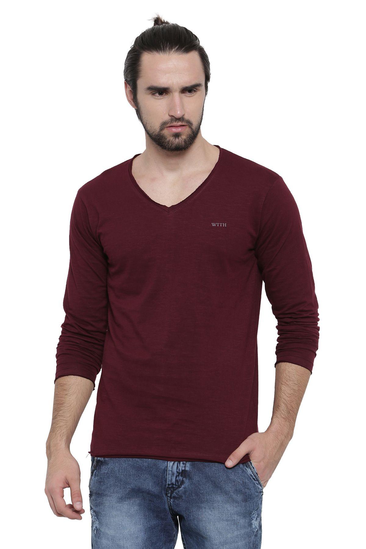 WITH White V-Neck T-Shirt