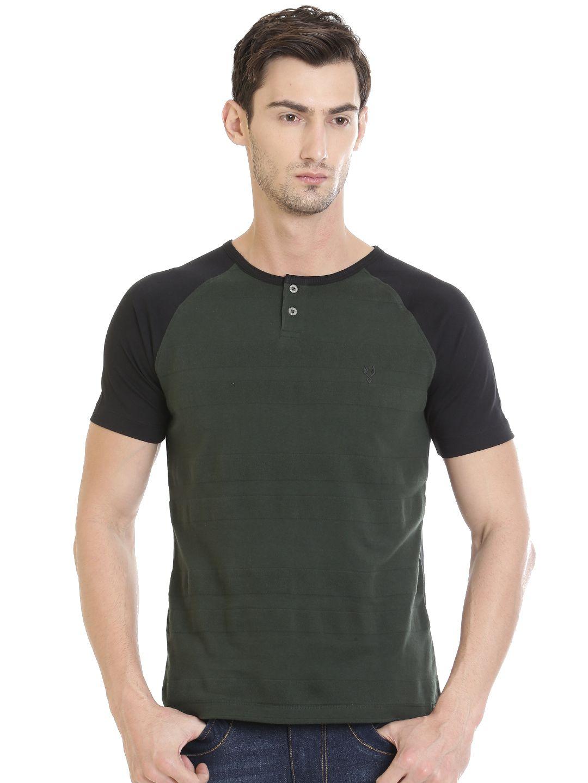 VUDU Green Henley T-Shirt