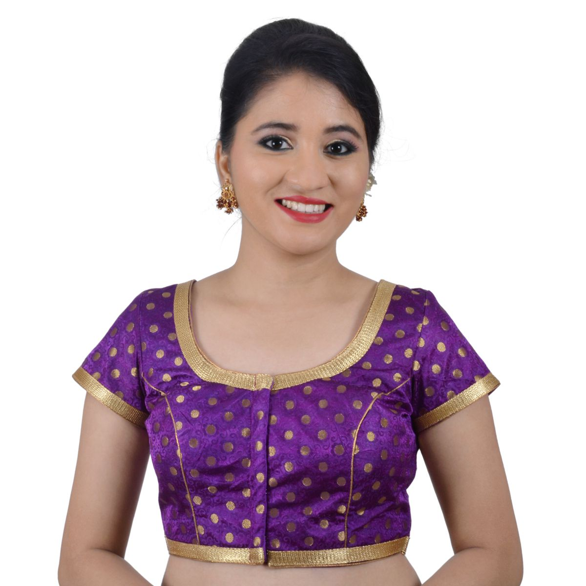6395107ccb NAMI Purple Brocade Readymade with Pad Blouse - Buy NAMI Purple Brocade  Readymade with Pad Blouse Online at Low Price - Snapdeal.com