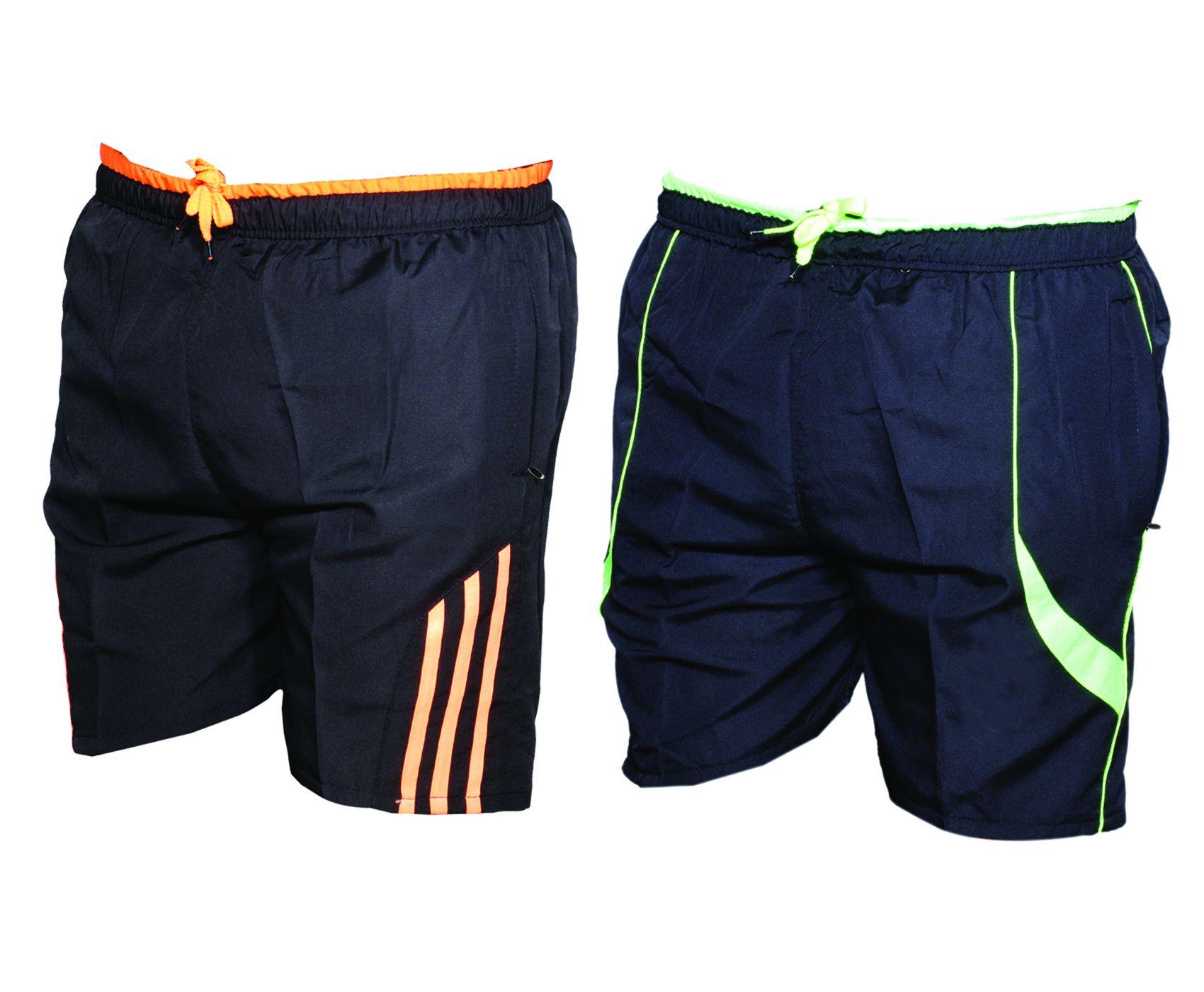 IndiWeaves Multi Shorts (Pack of 2 Sports Shorts/Bermuda)