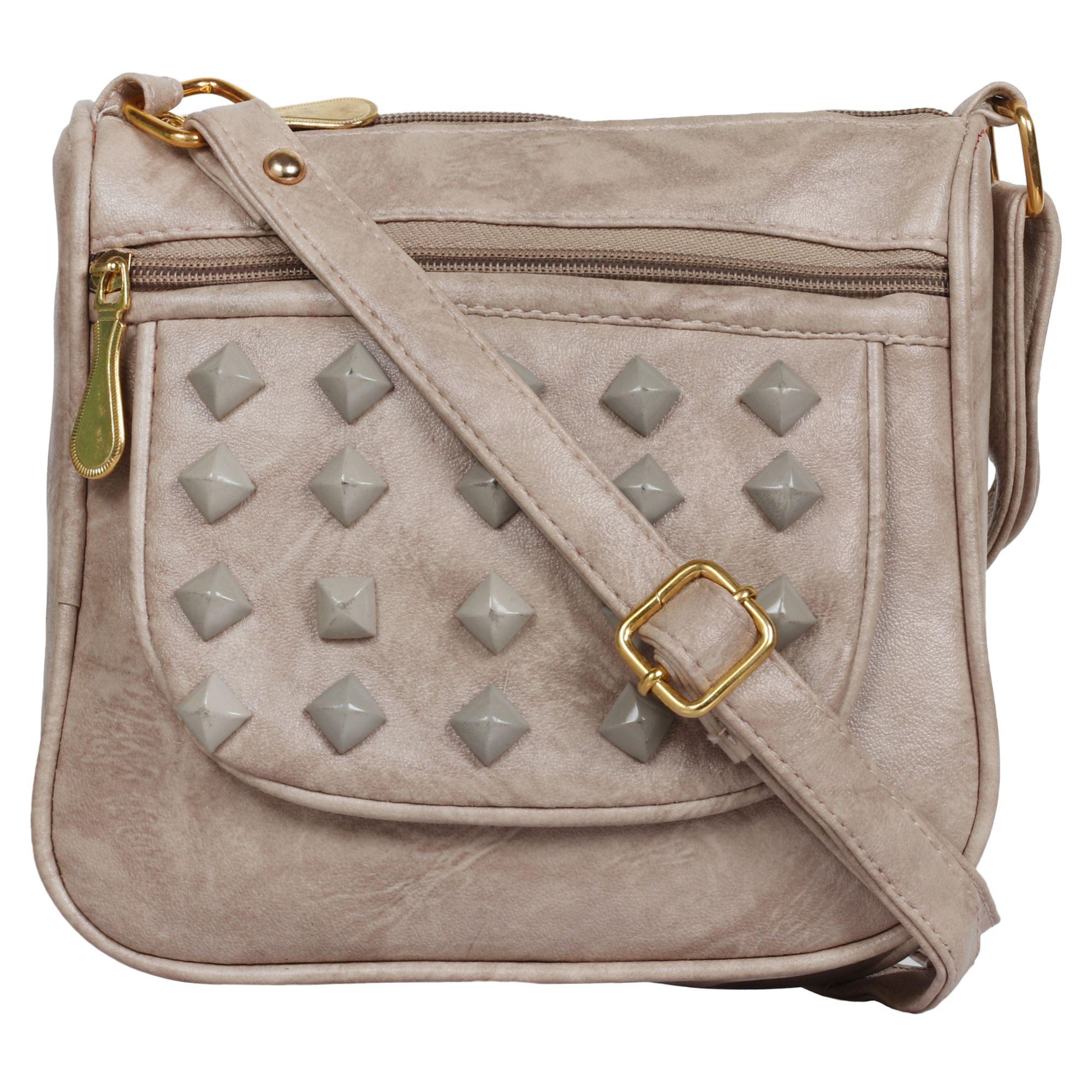 Anicks Silver P.U. Sling Bag