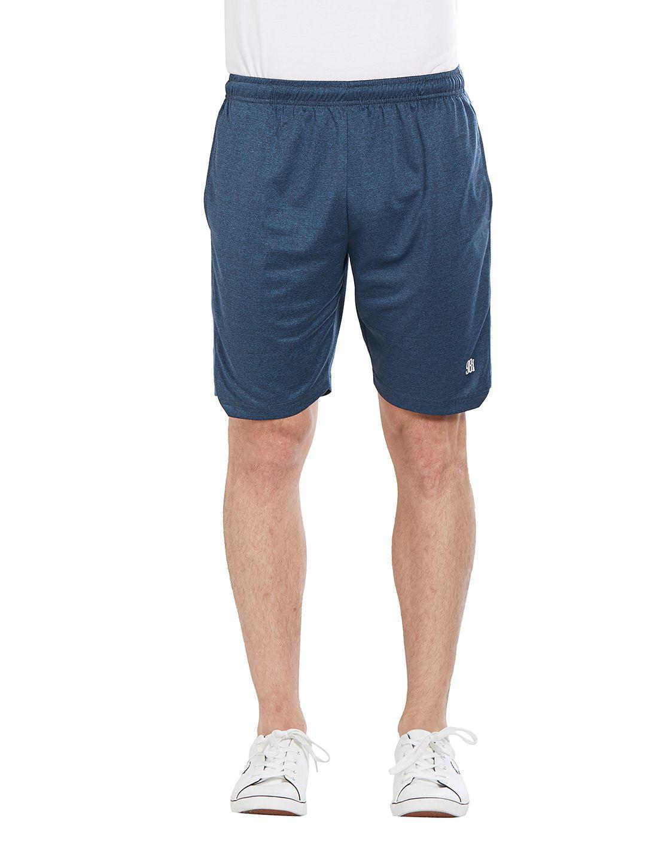 BONATY Blue 100% Polyester Solid  Shorts For Men