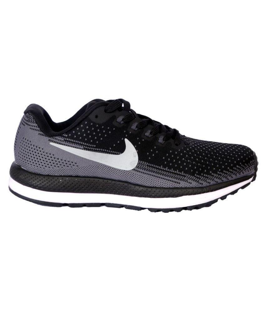 38d0257bcdb187 Nike Air zoom vomero 13 Black Running Shoes - Buy Nike Air zoom ...