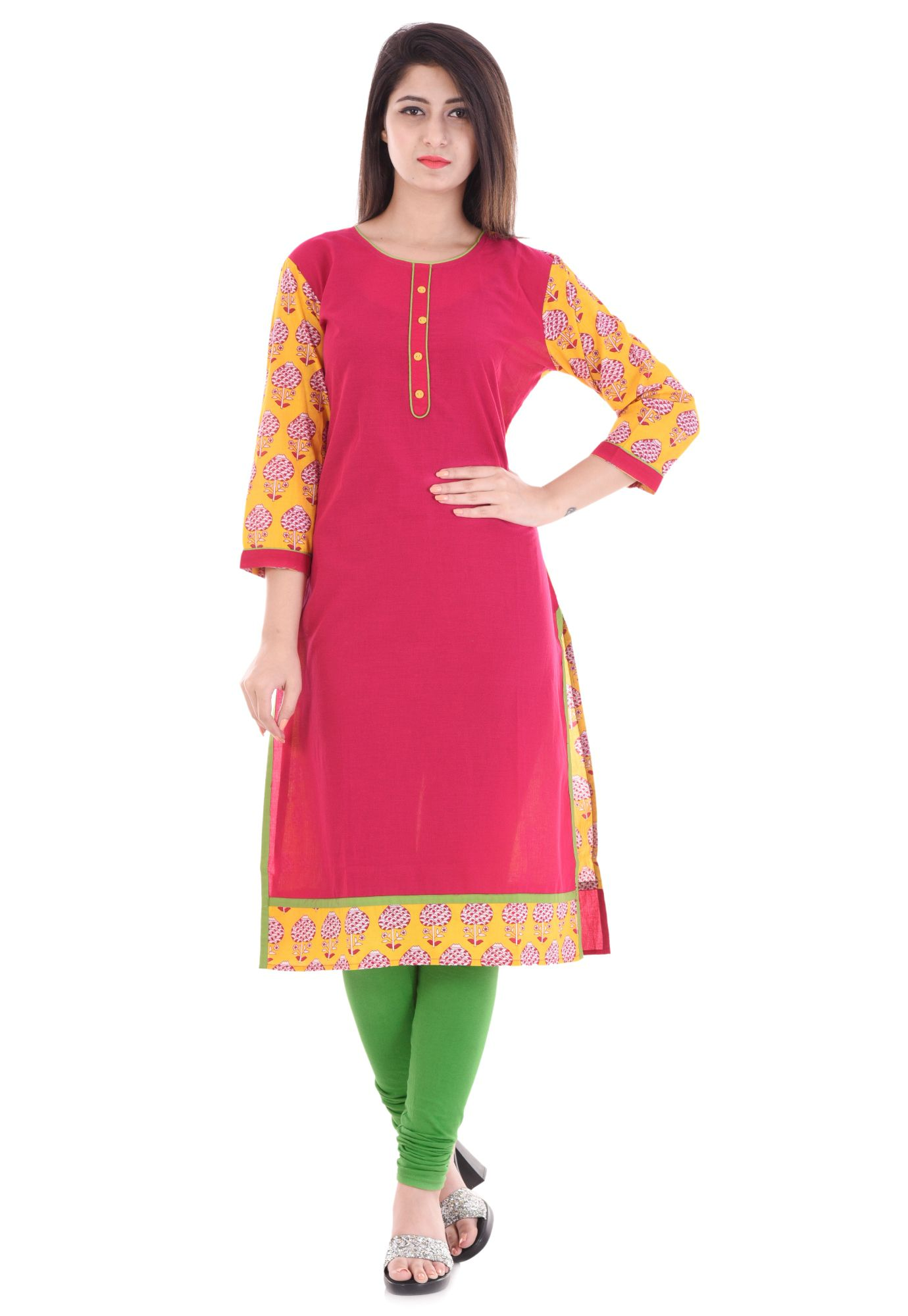 PARTH LATEST FASHION Multicoloured Cotton A-line Kurti