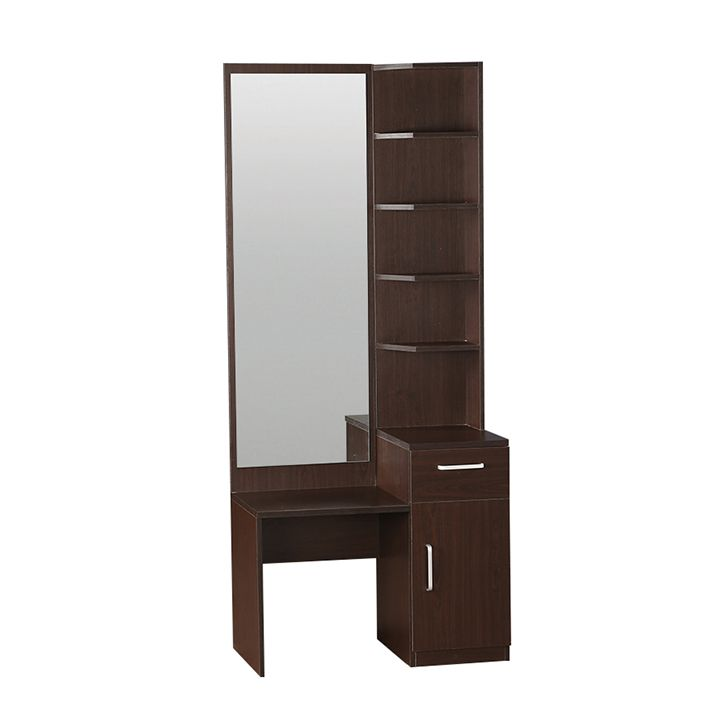 Delicieux ... Winger Teak Wood Dressing Table In Walnut Finish(Without Stool) ...