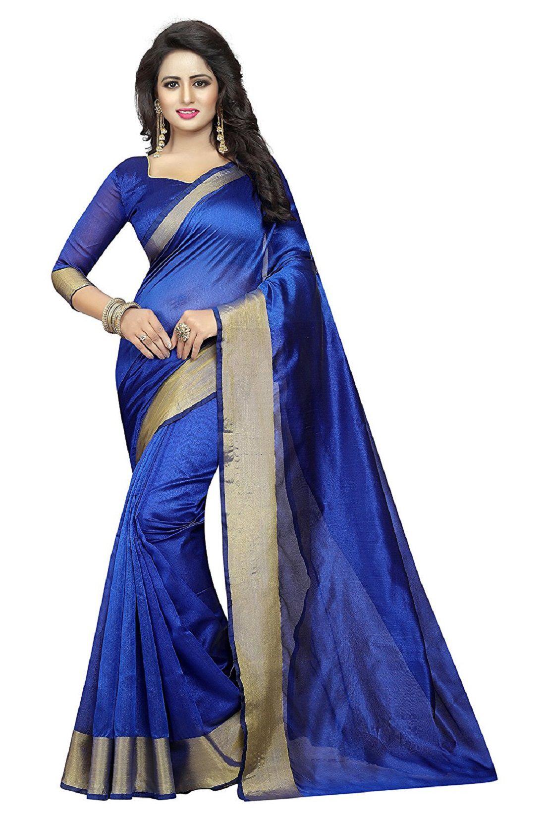 ZORO Blue Bangalore Silk Saree