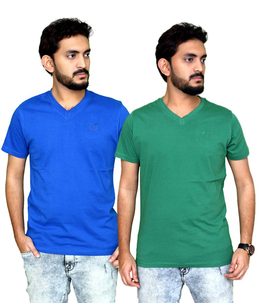 Planet 69 Multi V-Neck T-Shirt