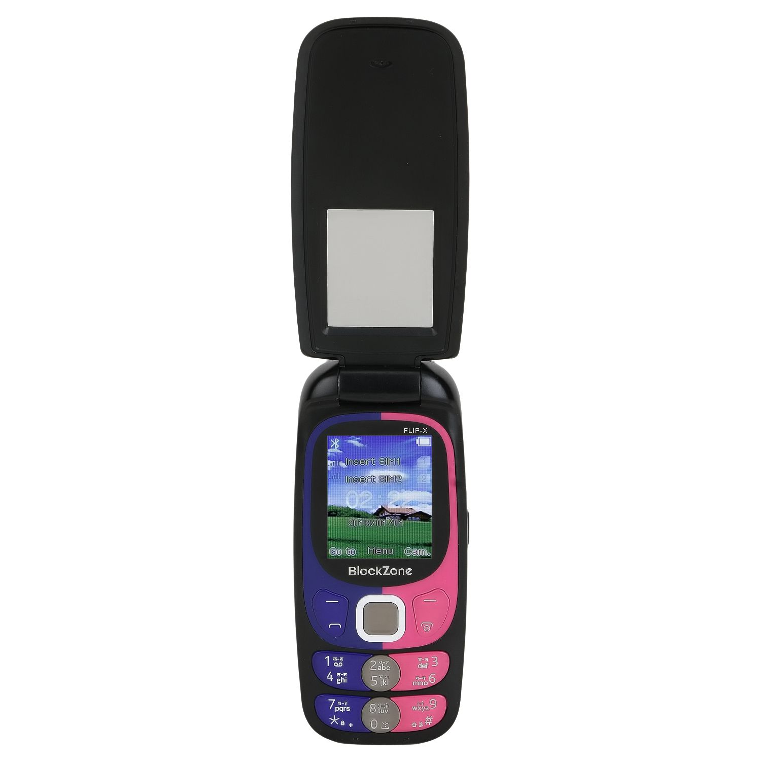 black zone black flip x 35 mb feature phone online at low prices