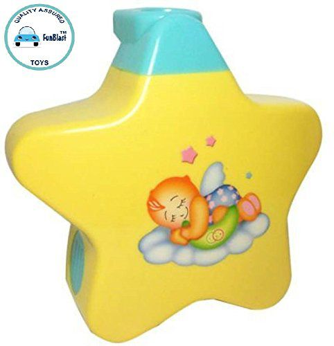 Funblast New Born Toy Little Angel Baby Sleep Star Projector With Star Light Show And Music For Kids