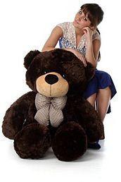ToyHub 3 Feet Soft Stuffed Spongy Huggable Cute Teddy Bear (Chocolate Color) - 91 cm