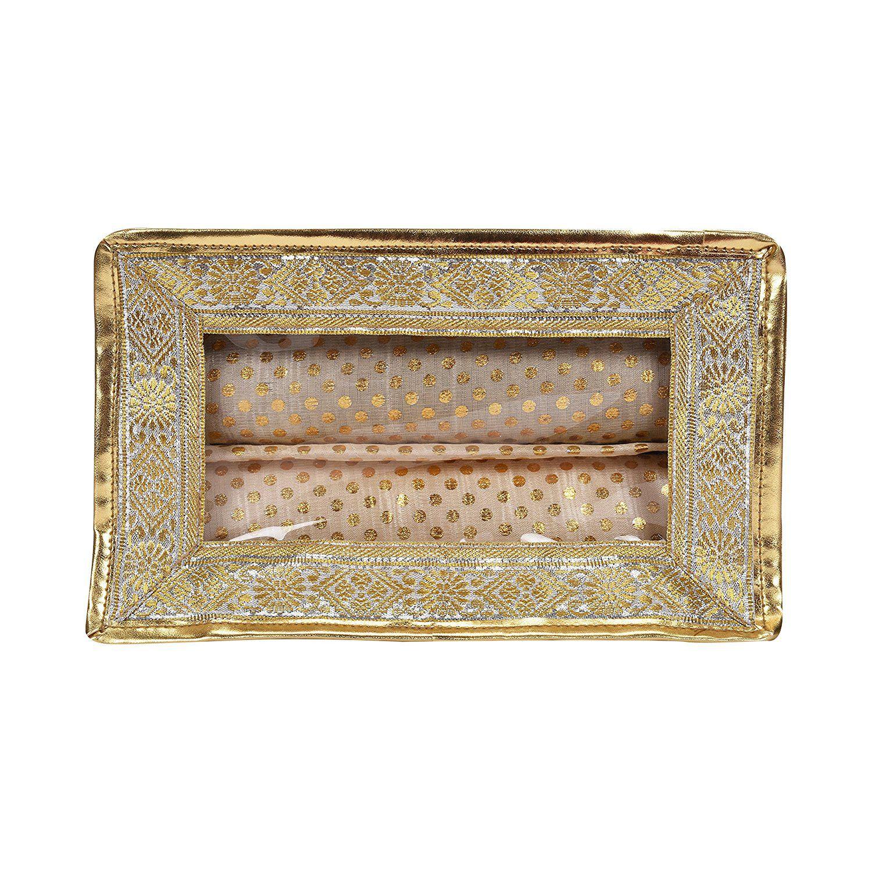 PSH 2 Rods Bangle Box Bracelet Bag Travel Organiser Jewellery Case with transparent top | Fabric made Bangle Organiser