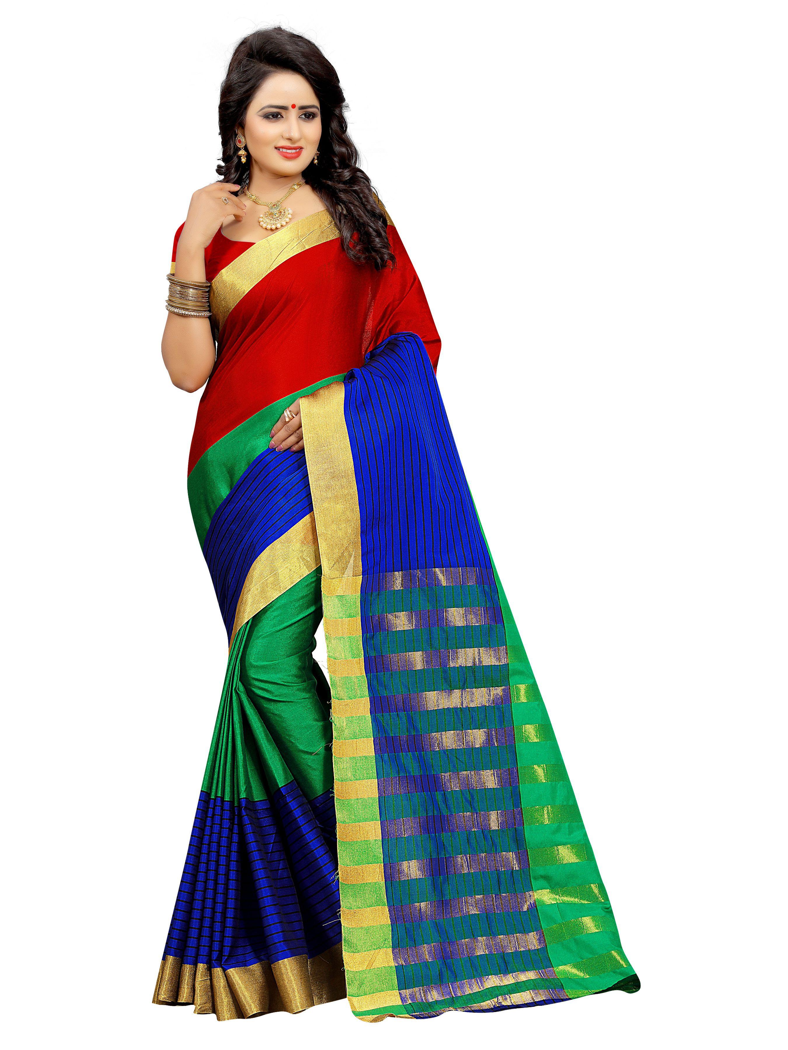Yashraj Export Multicoloured Cotton Silk Saree