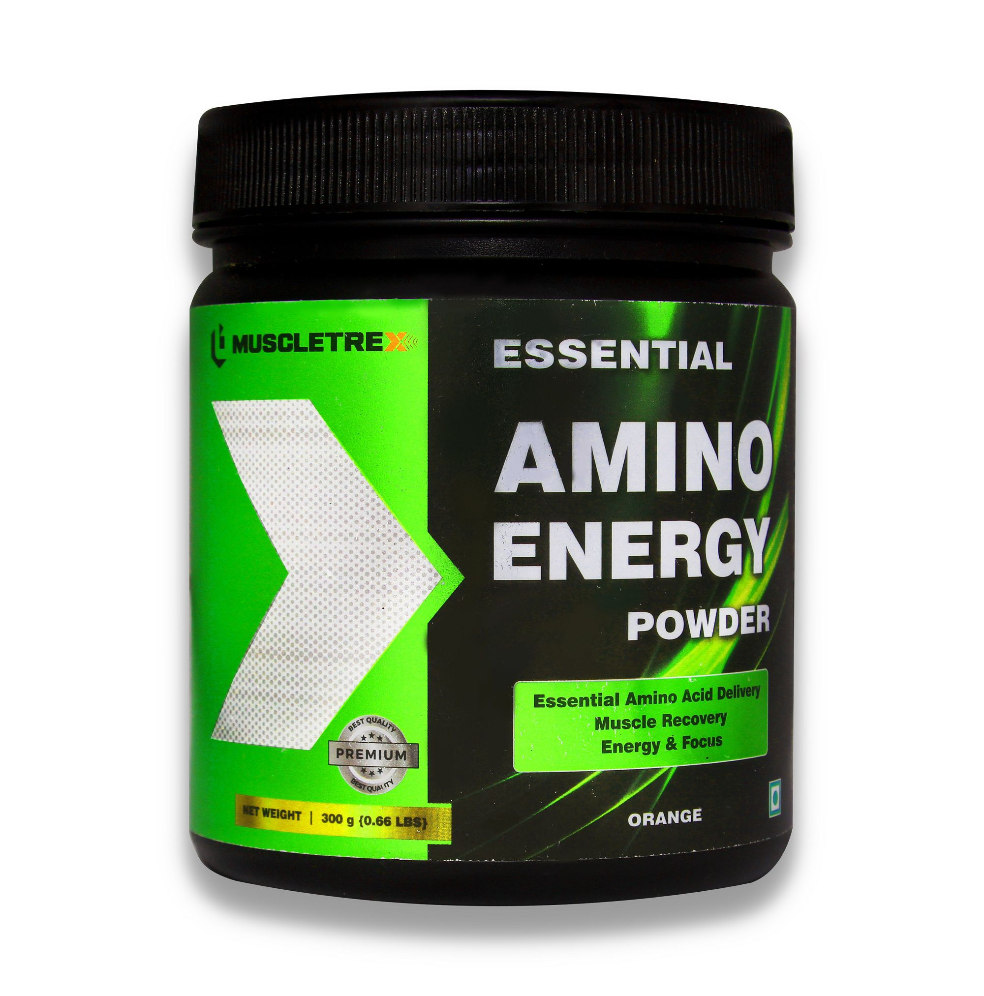 Muscletrex Essential Amino Energy Powder, Orange Energy Drink for Adult 300 gm
