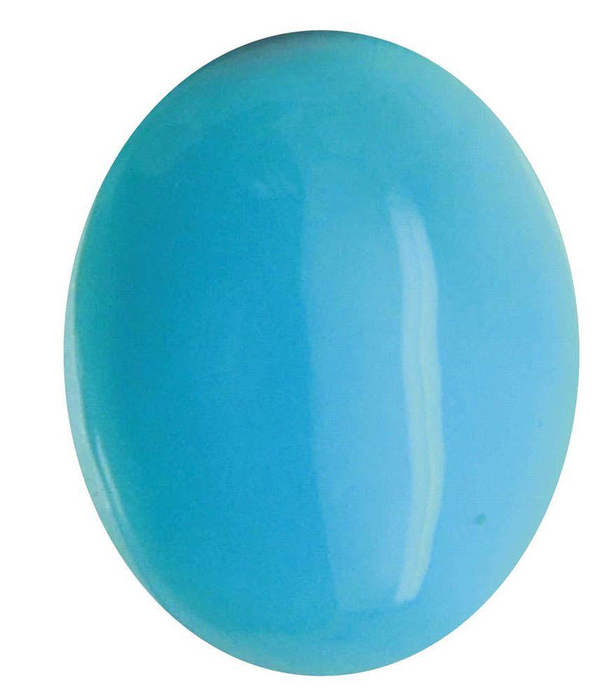 Tejvij And Sons 18.25 -Ratti Self certified Turquoise Turquoise Semi-precious Gemstone
