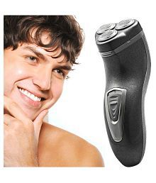 Jm Rechargeable Triple Bladed Hair Shaver with Trimmer Clipper for Men Rotary Shaver ( Black )