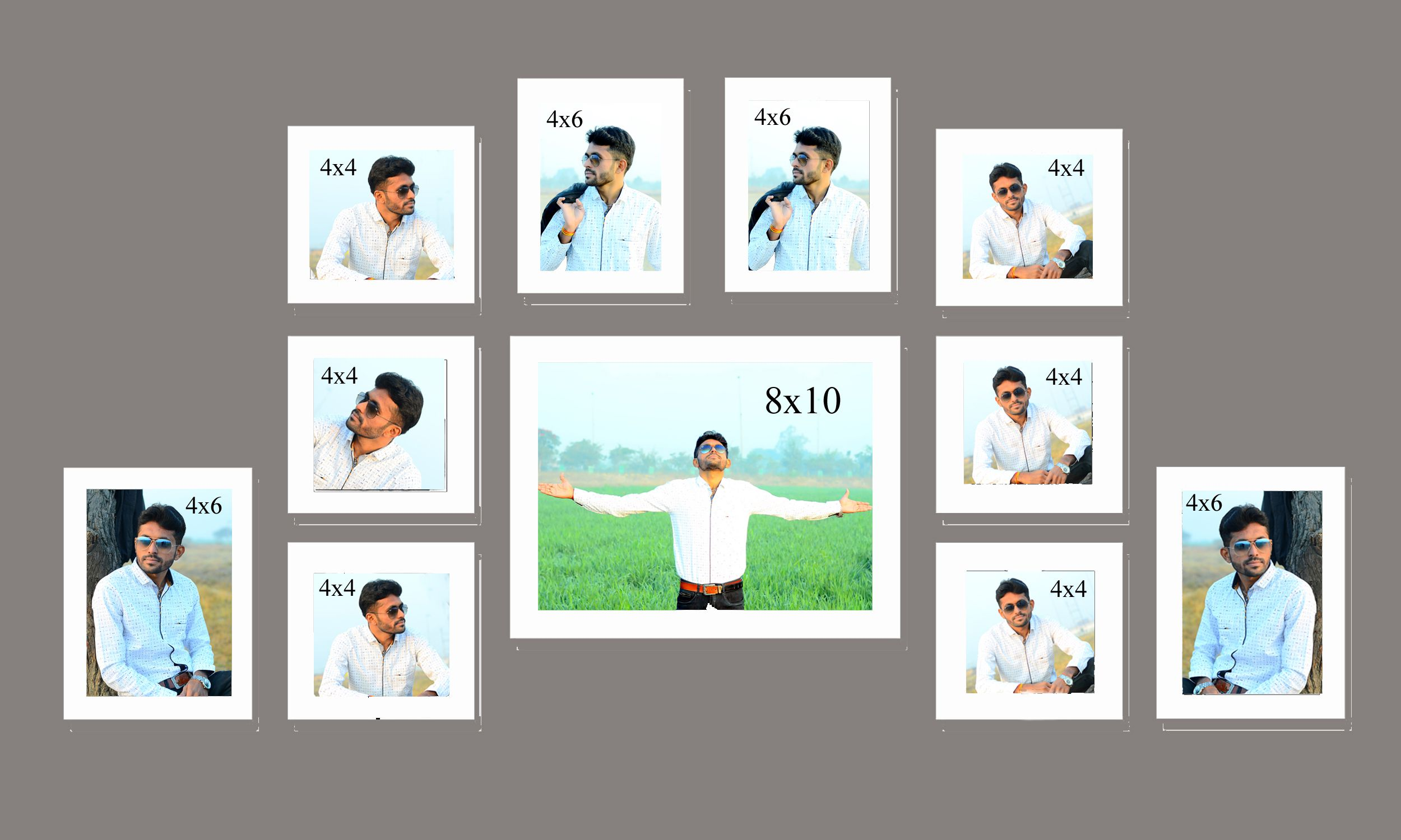 MAGIC GIFT Wood Wall Hanging White Photo Frame Sets - Pack of 11