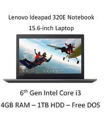 Lenovo Ideapad 320E (80XH01JFIN) Notebook (6th Gen Intel Core i3- 4GB RAM- 1TB HDD- 39.62cm(15.6)- DOS) (Black)