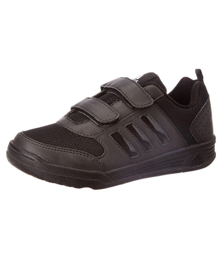 adidas boy s flo k black velcro school shoes b2a8b4