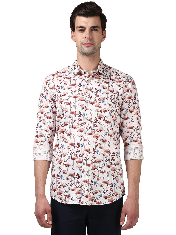 Colorplus Red Regular Fit Shirt