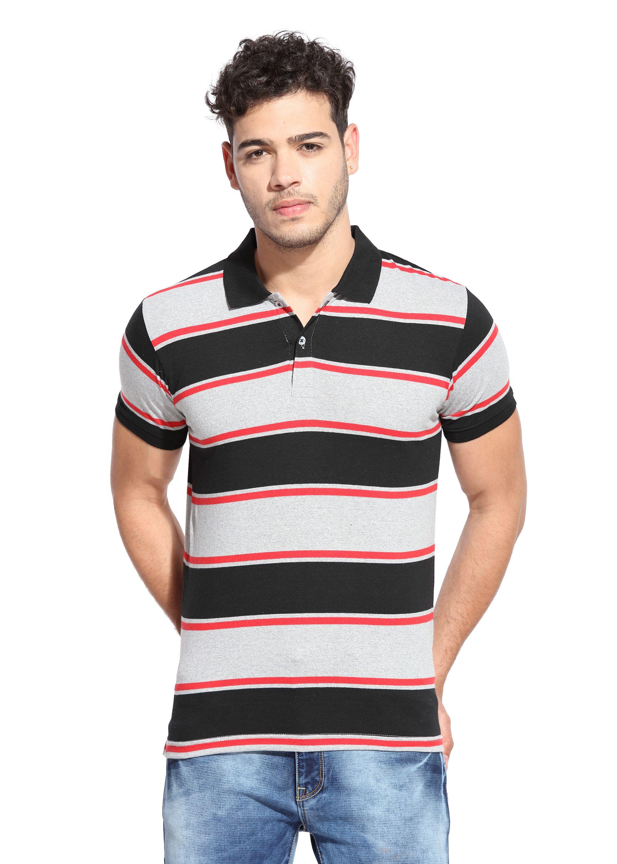 Le Bison Black V-Neck T-Shirt Pack of 1