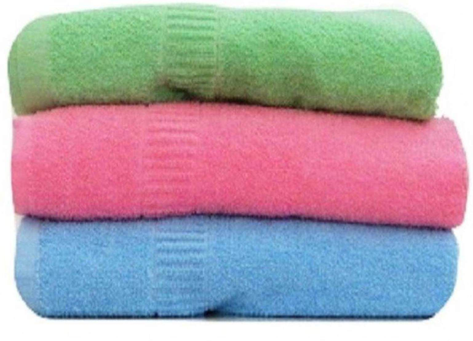 Shopping store Set of 3 Cotton Bath Towel Multi