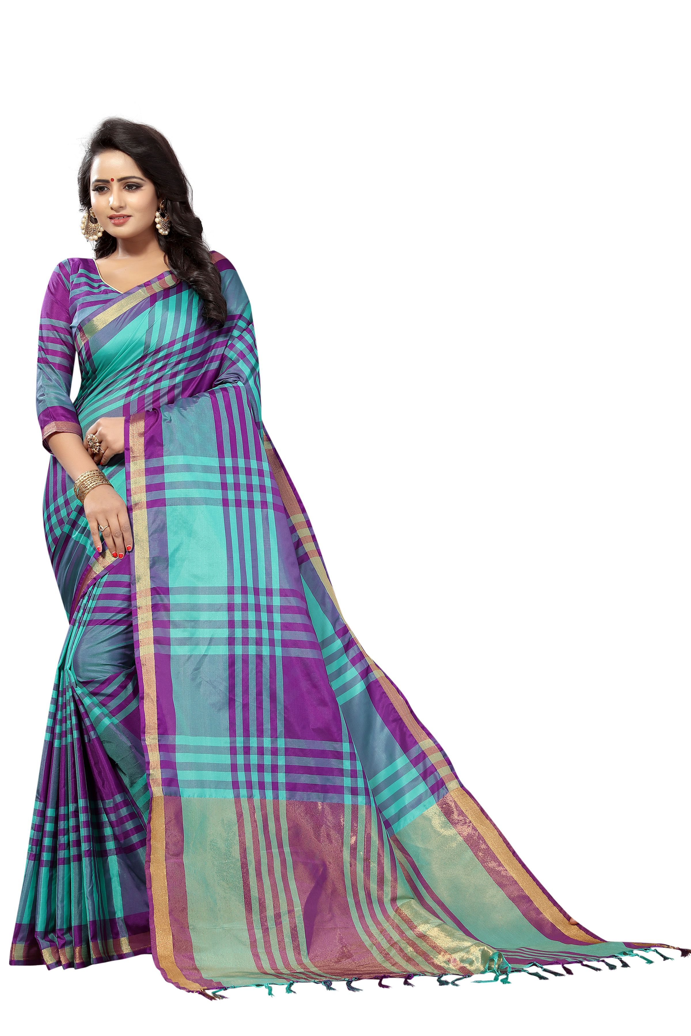 Winza Designer Magenta Cotton Silk Saree