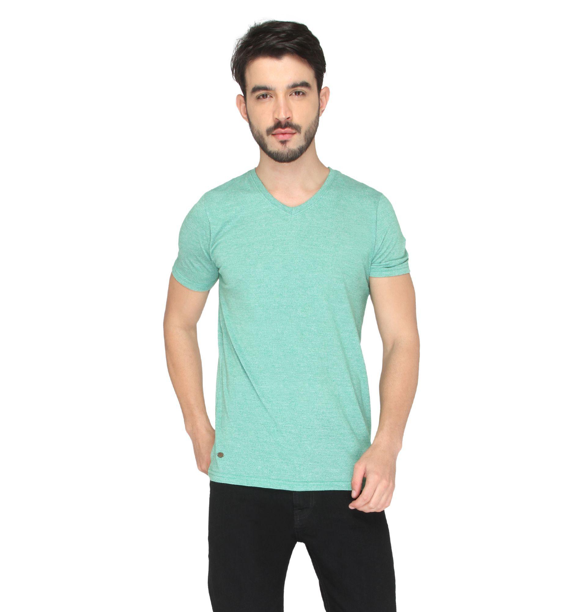 Drastic Green V-Neck T-Shirt