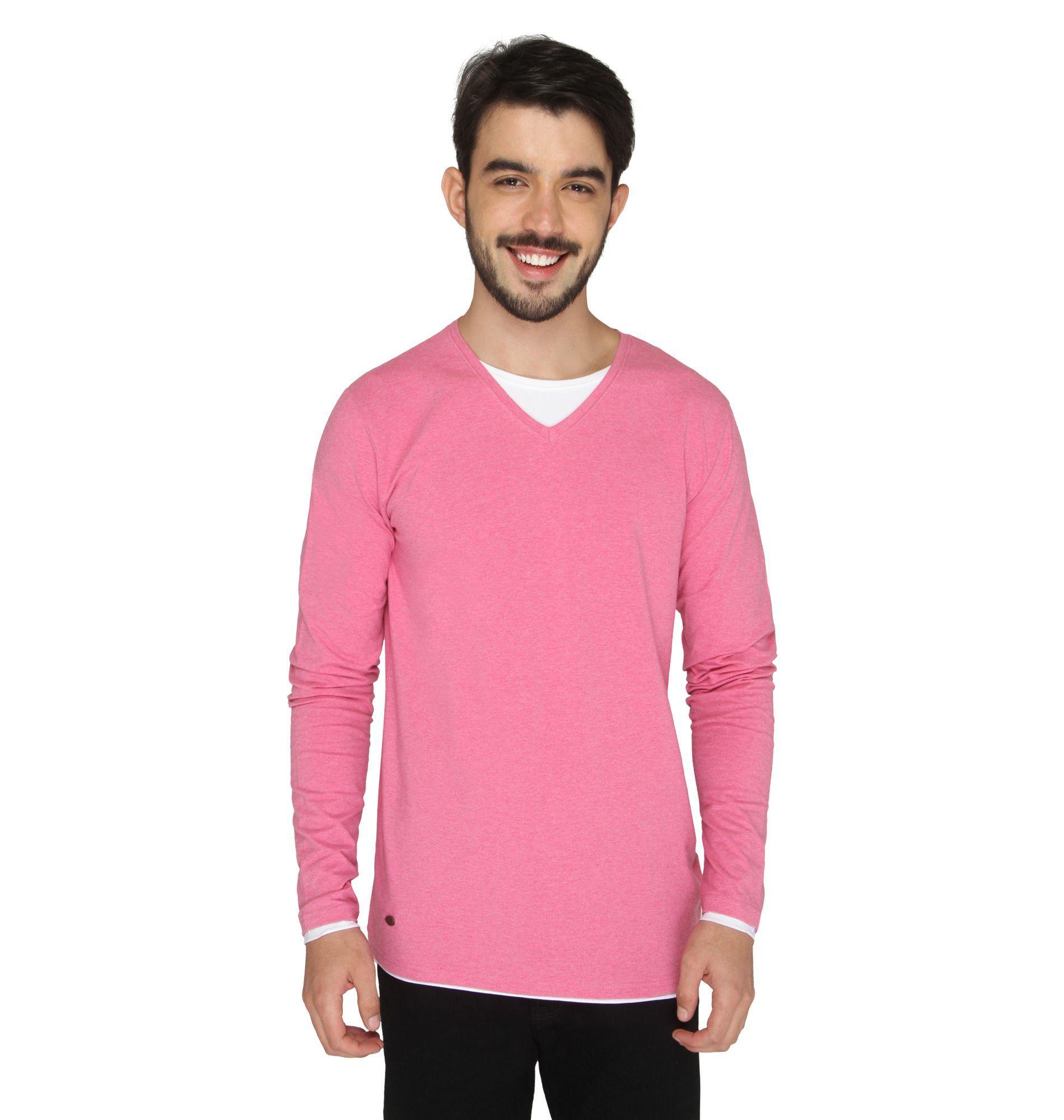 Drastic Pink V-Neck T-Shirt