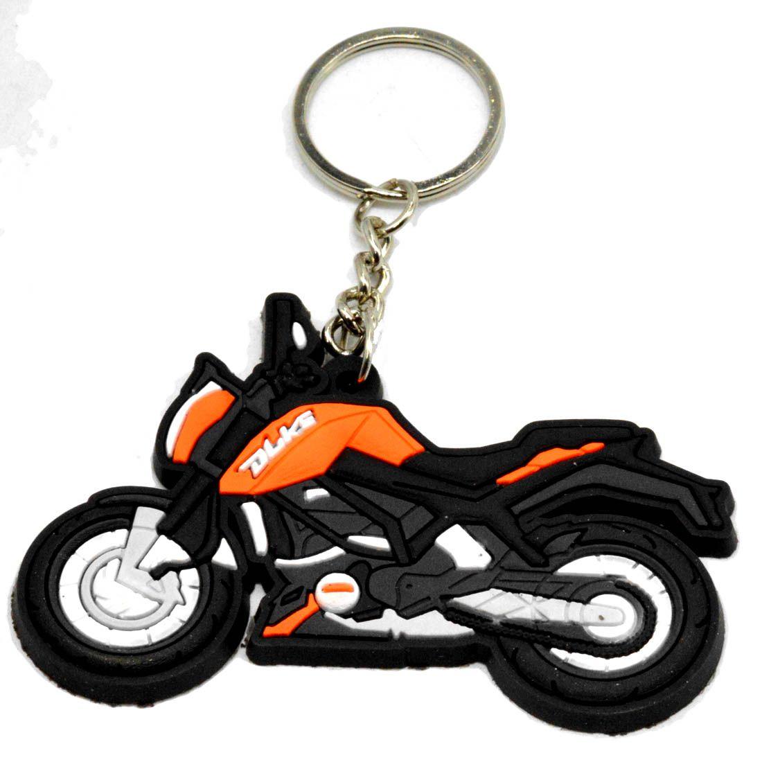 Faynci Duke Bike Logo Silicone Orange/Black/White Key Chain