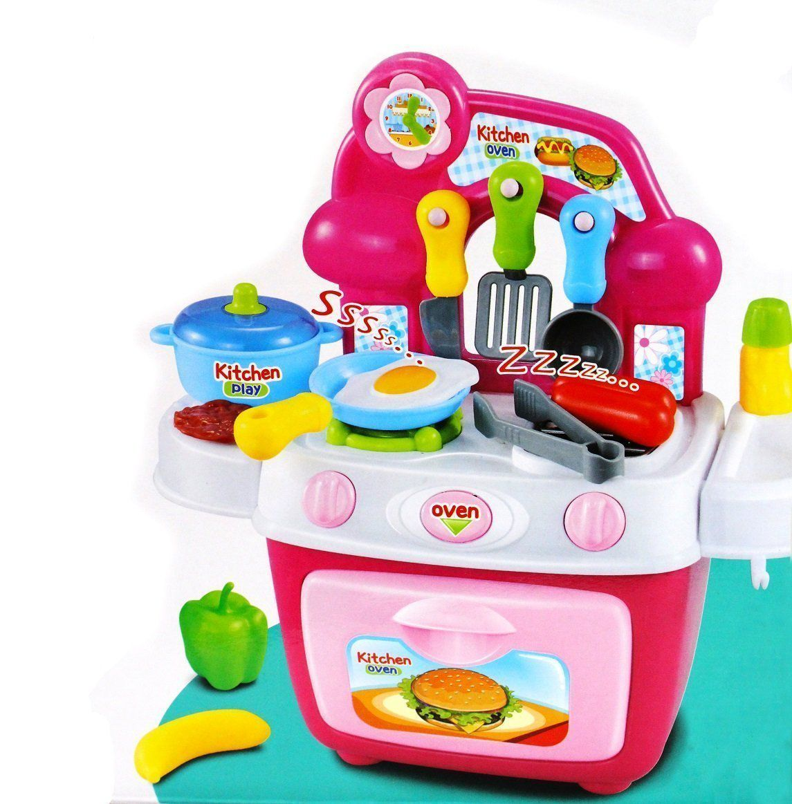 Pepperonz Portable Battery Operated Kitchen Oven Play Set For Kids