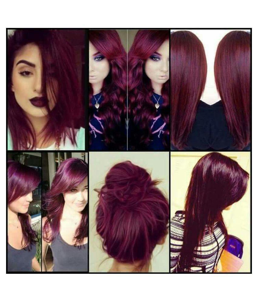 Elegant Burgundy Demi Permanent Hair Color